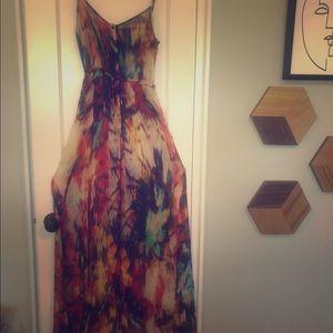 ZARA TRF Long Maxi Tie Dye Dress